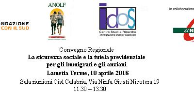 Lamezia Terme, 10 aprile 2018. Convegno regionale Long Life Welfare: il Volontariato a supporto della tutela e dell'autotutela
