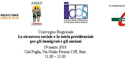 Bari, 19 marzo 2018. Convegno regionale Long Life Welfare: il Volontariato a supporto della tutela e dell'autotutela