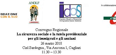 Cagliari, 26 marzo 2018. Convegno regionale Long Life Welfare: il Volontariato a supporto della tutela e dell'autotutela