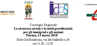 Potenza, 13 marzo 2018. Convegno regionale Long Life Welfare: il Volontariato a supporto della tutela e dell'autotutela