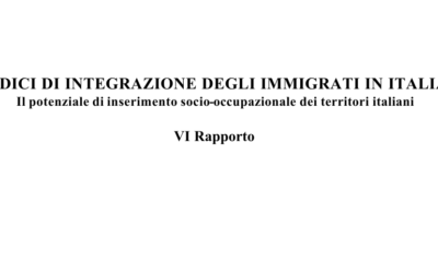 Sixth Report Indexes of integration of immigrants