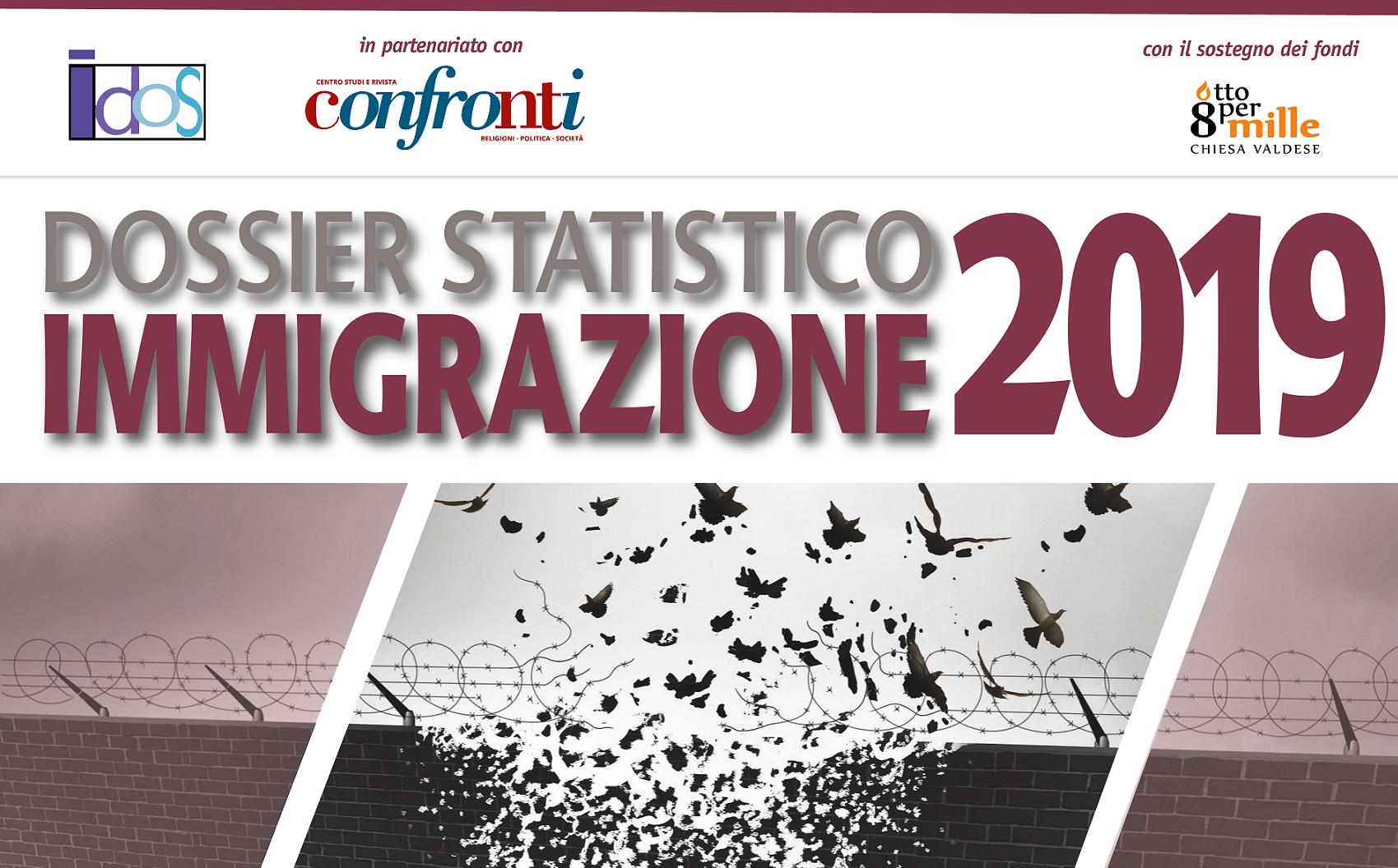 """Giovedì 24 ottobre 2019. Presentazioni regionali del """"Dossier Statistico Immigrazione 2019"""""""