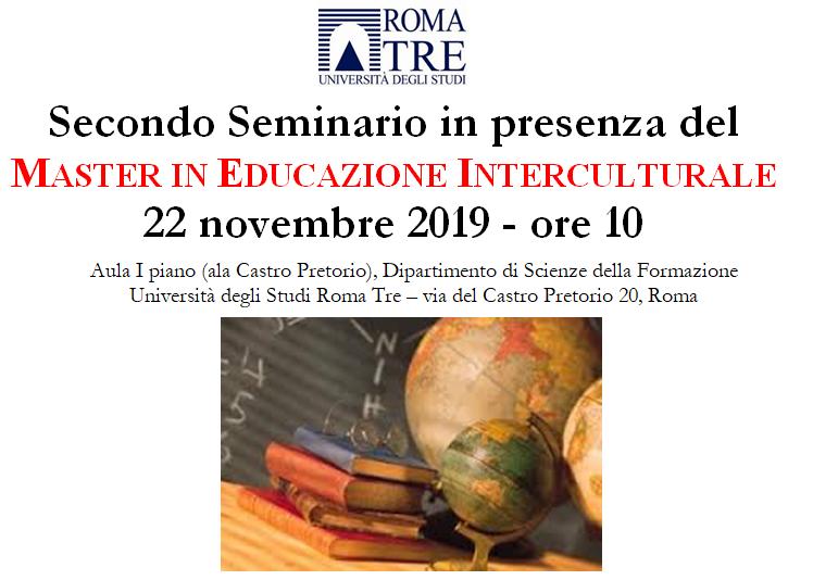 Roma, 22 novembre 2019. Master di Educazione Interculturale.