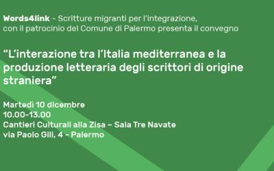 """Palermo, 10 dicembre 2019. Convegno """"Words4link – Scritture migranti"""""""